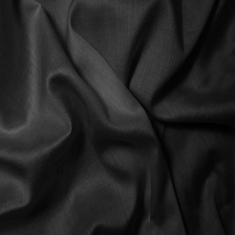 Pima Cotton Satin Back Batiste - 20 Yard Bolt 01 Black
