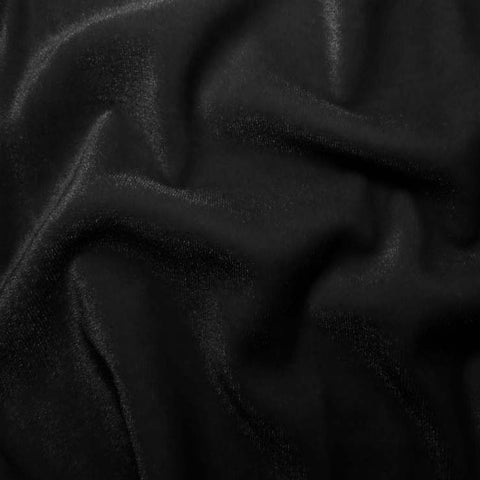 Polyester Stretch Velvet - 15 Yard Minimum 01 Black