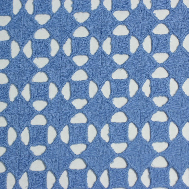 Cotton Guipure Diamond Lace 01 Blue - NY Fashion Center Fabrics