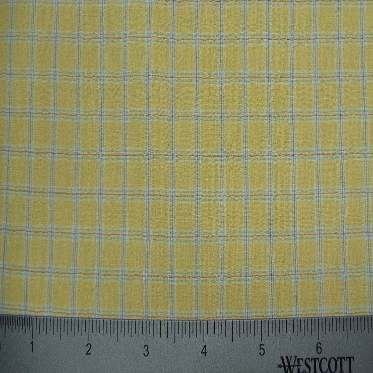 100% Cotton Fabric Checks Collection #2 01 CBY0004YEL - NY Fashion Center Fabrics