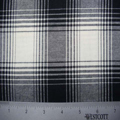 100% Cotton Fabric Checks Collection #3 01 FLN5001B W - NY Fashion Center Fabrics