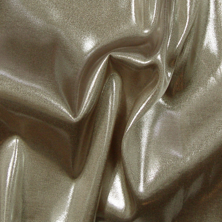 Polyester Metallic Stretch Woven 01 Gold Silver