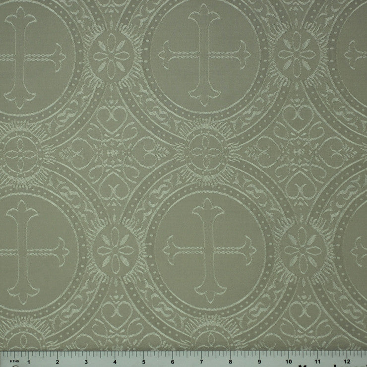 Polyester Tonal Church Brocade 01 Ivory