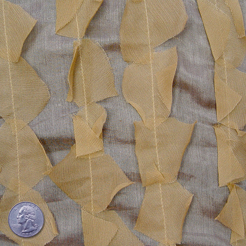Silk Chiffon Novelty Petal Fabric 01 Light Tan