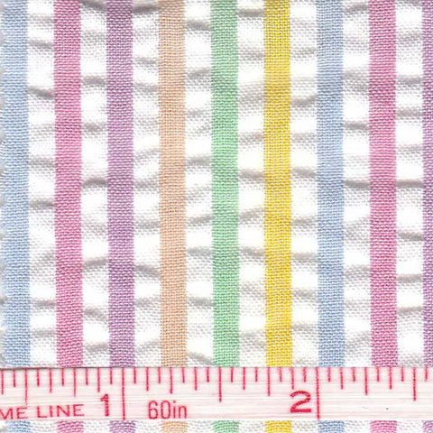 Cotton Blend Seersucker - 30 Yard Bolt 01 Multi 803 - NY Fashion Center Fabrics