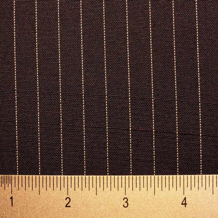 Italian Silk Pinstripe Suiting 01 Navy White - NY Fashion Center Fabrics