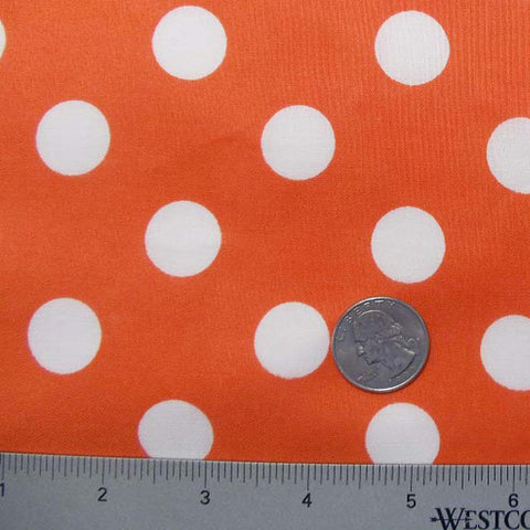 Cotton Large Dot Print Voile 01 Orange - NY Fashion Center Fabrics