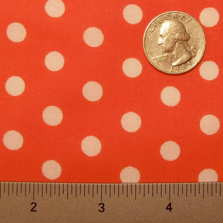 Cotton Small Dot Print Voile 01 Orange - NY Fashion Center Fabrics