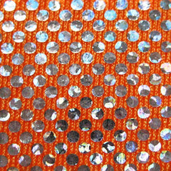 Shattered Glass Hologram Spandex 01 Orange
