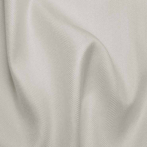 Italian Silk Herringbone 01 RS White - NY Fashion Center Fabrics