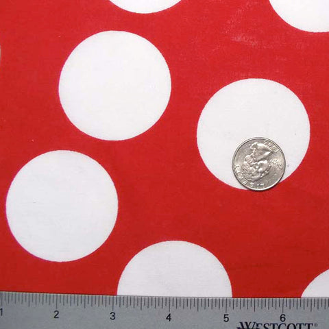 Cotton Super Large Dot Print Voile 01 Red White - NY Fashion Center Fabrics