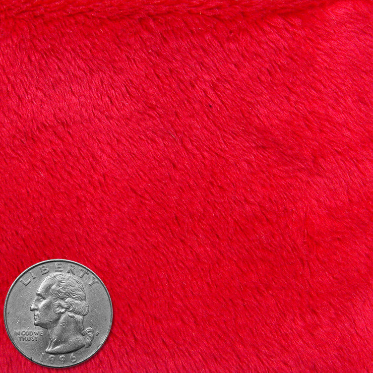 Polyester Faux Fur 01 Red