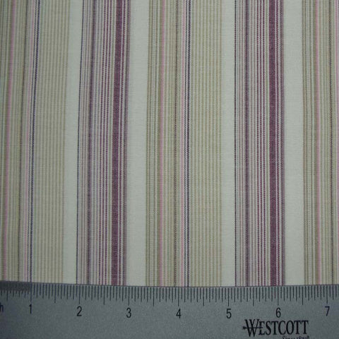 100% Cotton Fabric Stripes Collection #8 01 STR2115M W - NY Fashion Center Fabrics
