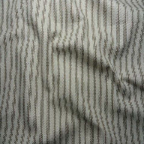Cotton Stripe Ticking 01 Taupe - NY Fashion Center Fabrics