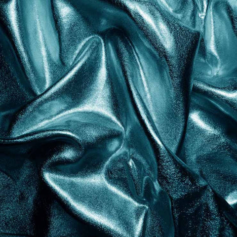 Metallic Spandex 01 Turquoise - NY Fashion Center Fabrics