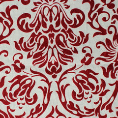 Linen Baroque Fabric 01 White Red - NY Fashion Center Fabrics