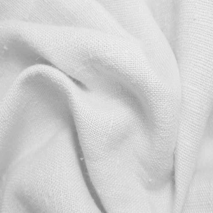 Heavyweight Linen 01 White - NY Fashion Center Fabrics