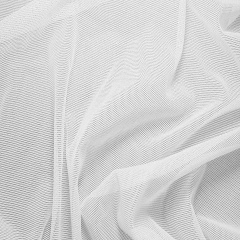Nylon/Spandex Sheer Stretch Mesh 01 White - NY Fashion Center Fabrics