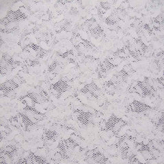 Nylon Stretch Raschel Lace 01 White - NY Fashion Center Fabrics