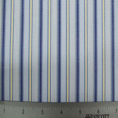 100% Cotton Fabric Stripes Collection #7 02 Y D1048BLU - NY Fashion Center Fabrics