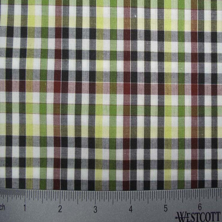 100% Cotton Fabric Checks Collection #1 01 Y D9825M G - NY Fashion Center Fabrics