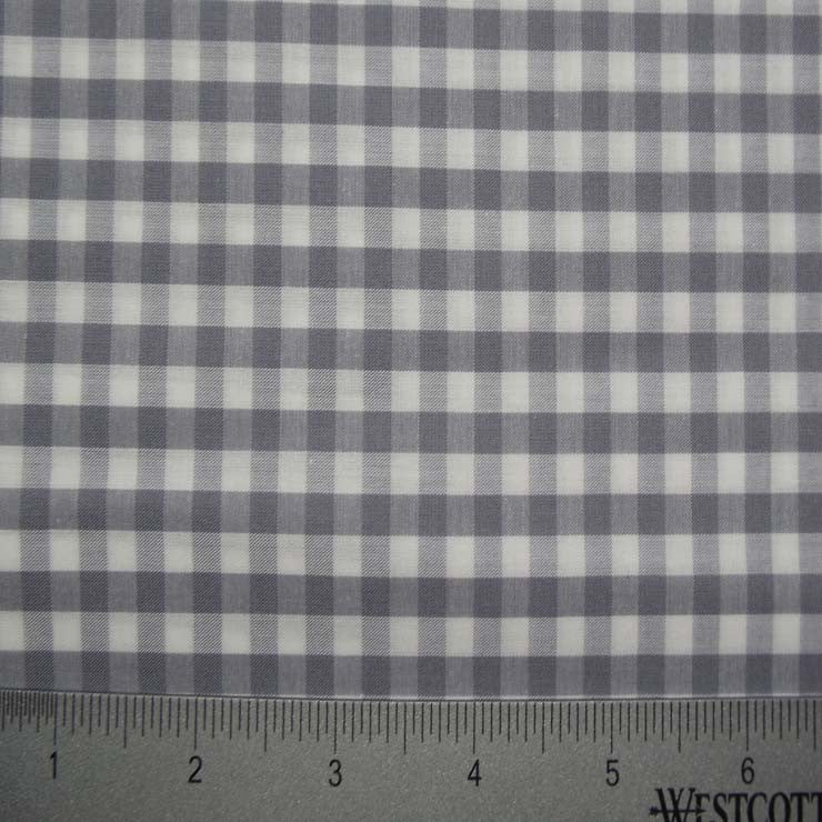 100% Cotton Fabric Checks Collection #4 01 Y D9837GRY - NY Fashion Center Fabrics