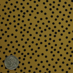 Silk Random Dots Print Crepe De Chine 01 yellow black
