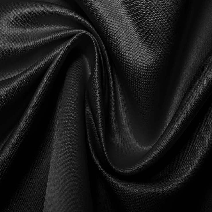 Silk Blend Duchess Satin Black