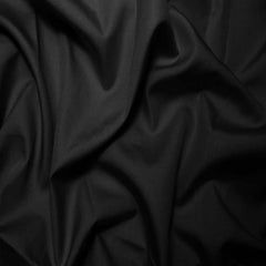 Sea Island Cotton Sateen Fabric 15 Yard Bolt 02 Black