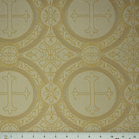 Polyester Tonal Church Brocade 02 Champagne