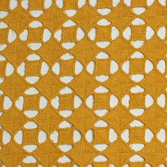 Cotton Guipure Diamond Lace 02 Citron - NY Fashion Center Fabrics