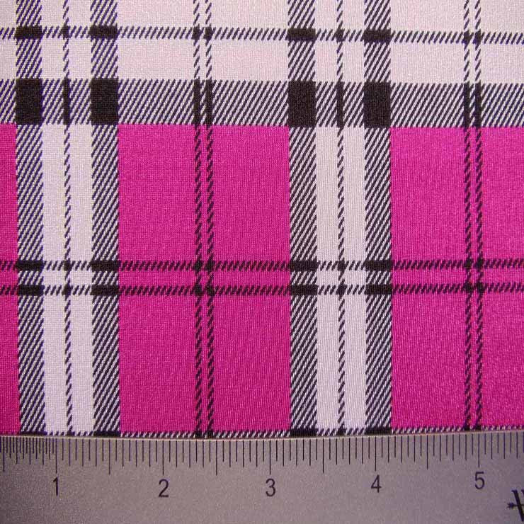 School Plaid Spandex 02 Fuchsia