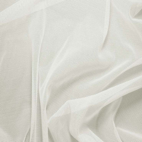 Nylon/Spandex Sheer Stretch Mesh 02 Ivory - NY Fashion Center Fabrics