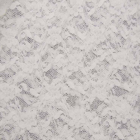 Nylon Stretch Raschel Lace 02 Ivory - NY Fashion Center Fabrics