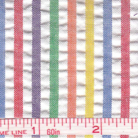Cotton Blend Seersucker - 30 Yard Bolt 02 Multi 805 - NY Fashion Center Fabrics