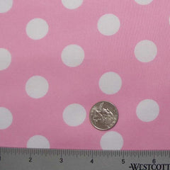 Cotton Large Dot Print Voile 02 Pink - NY Fashion Center Fabrics