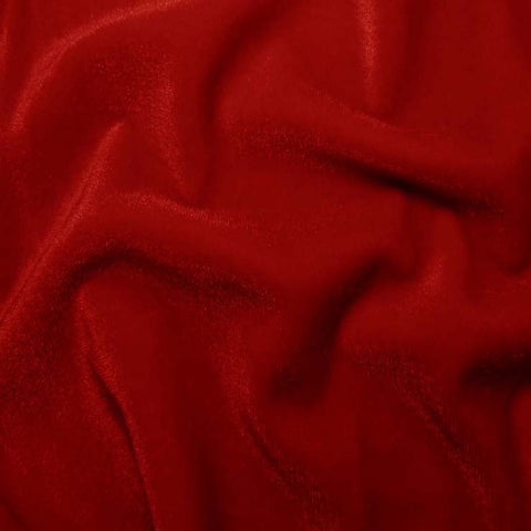 Polyester Stretch Velvet - 15 Yard Minimum 02 Red