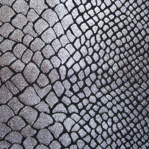 Anaconda Snake Print Spandex 02 Silver - NY Fashion Center Fabrics