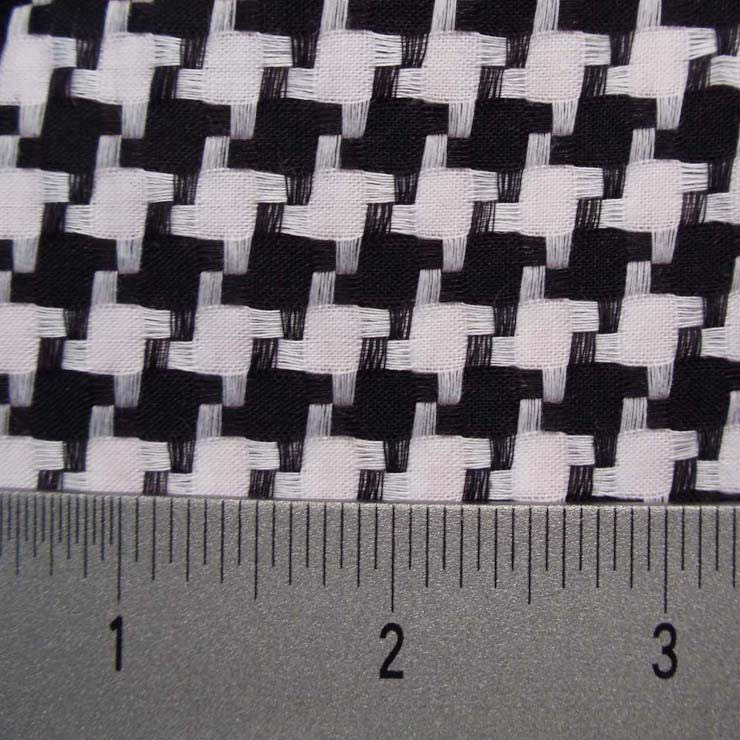 Cotton Dobby Cloth Houndstooth 02 Y D9800BLK - NY Fashion Center Fabrics