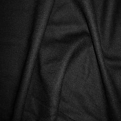 Deluxe Wool Crepe 03 Black - NY Fashion Center Fabrics