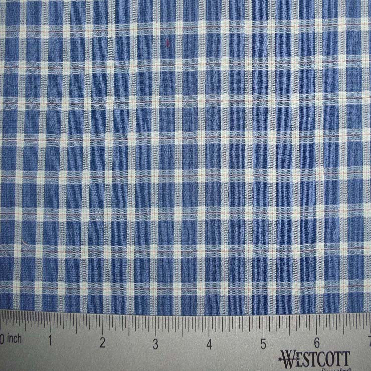 100% Cotton Fabric Checks Collection #2 03 CBY0004BLU - NY Fashion Center Fabrics