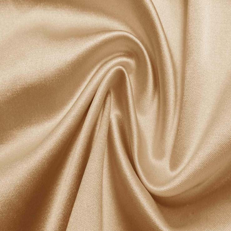 Silk/Nylon Blend Supreme Stretch Duchess Satin 03 Champagne