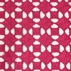 Cotton Guipure Diamond Lace 03 Fuchsia - NY Fashion Center Fabrics