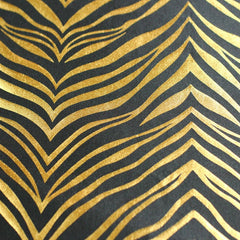 Metallic Zebra Print Spandex 03 Gold Black - NY Fashion Center Fabrics