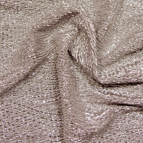 Metallic Crinkled Spandex 03 Grey Gold - NY Fashion Center Fabrics