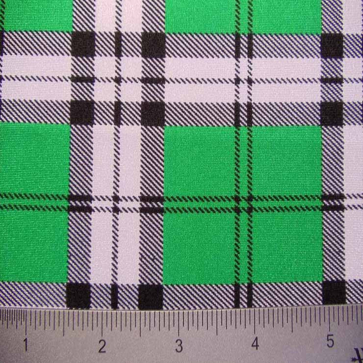 School Plaid Spandex 03 Kelly