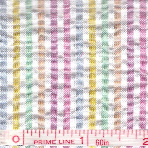 Cotton Blend Seersucker - 30 Yard Bolt 03 Multi 807 - NY Fashion Center Fabrics