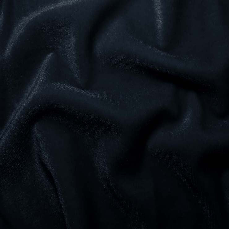 Polyester Stretch Velvet - 15 Yard Minimum 03 Navy