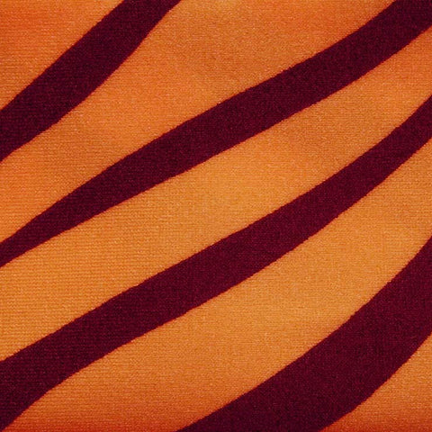 Matte Zebra Print Spandex 03 Neon Orange - NY Fashion Center Fabrics