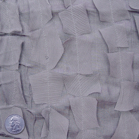 Silk Chiffon Novelty Petal Fabric 03 Steel Gray